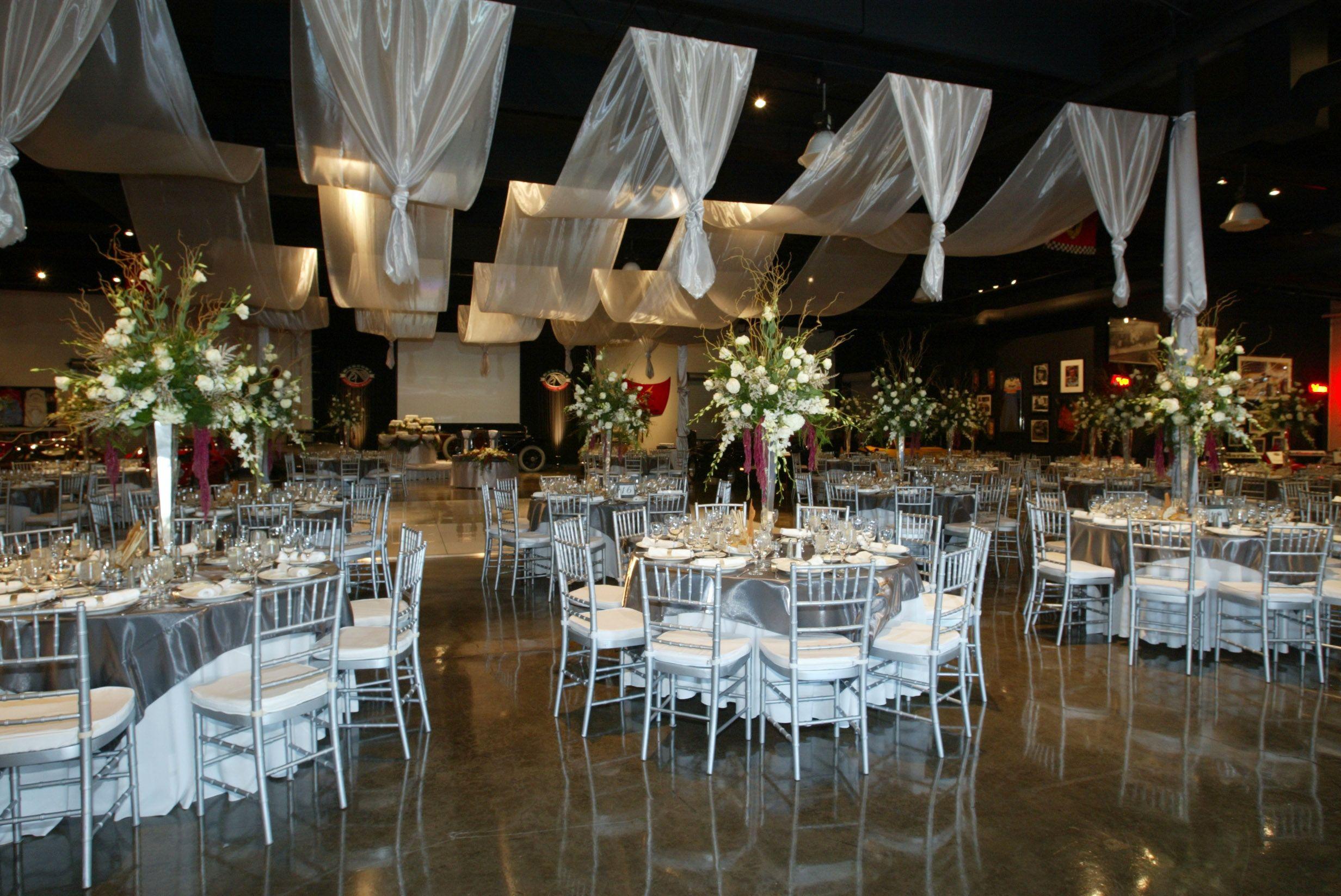Wedding dinner table decoration weddings  marconi automotive museum u event venue  weddings  the