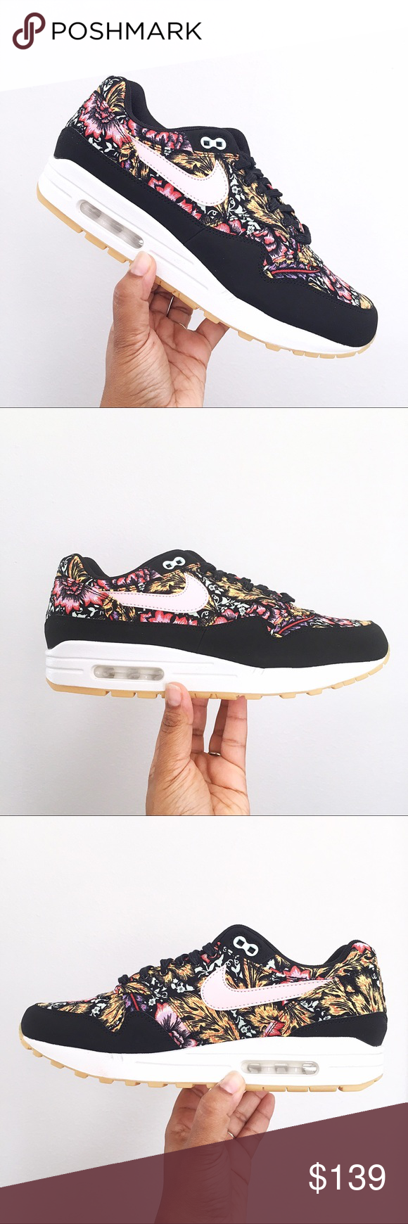sports shoes 8f5ea d7450 Nike Air Max 1 Qs Floral Print Pink Women s Shoes Brand New In Box no lid