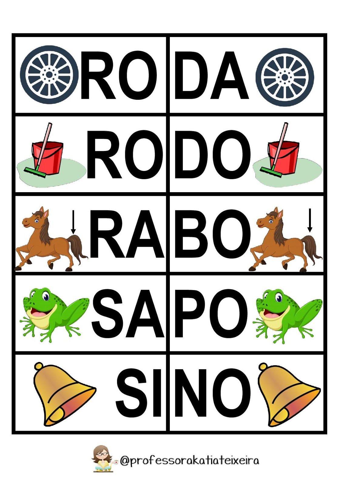 Jogo Para Alfabetizacao Letras R S T V X Palavras Dissilabas Espaco D Atividades Atividades De Alfabetizacao Atividades De Aprendizagem Para Criancas