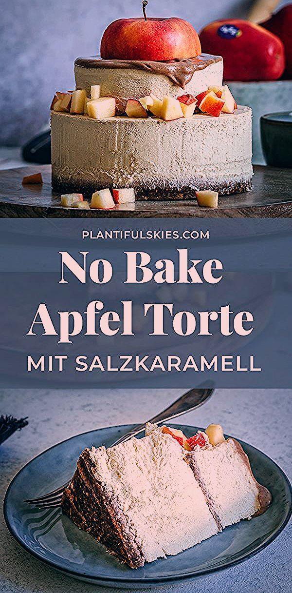 Photo of Salzkaramell & Äpfel, der No Bake Cake für den Winter