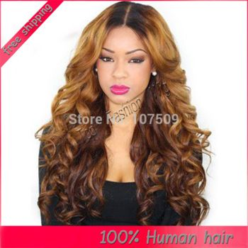 Lace Front Wigs Full Human Hair For Black Women Ombre Color Natural 2 Hairstyles 2017sew In