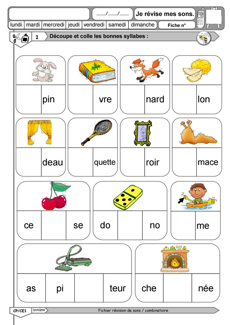 Syllabes manquantes ecole pinterest syllabes cole et lecture - Couper les mots en syllabes ...