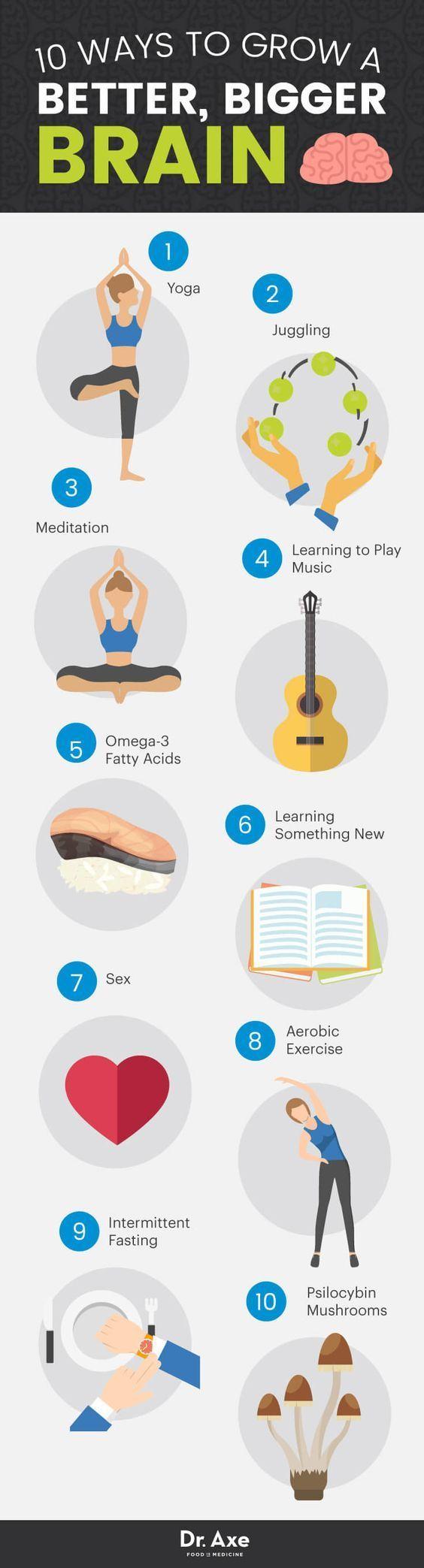 10 Ways To Grow A Bigger Better Brain