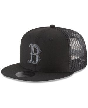 29b6fbb20878bd New Era Boston Red Sox Blackout Mesh 9FIFTY Snapback Cap - Black Adjustable