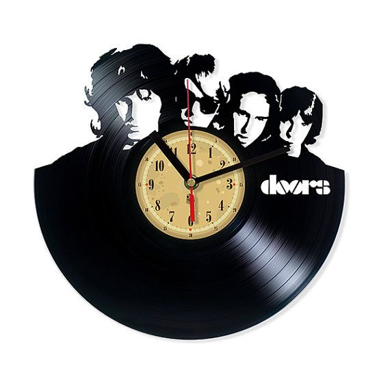 Vinyl Record Clock - The Doors. Vinyl Eaters is an upcycling product made from old