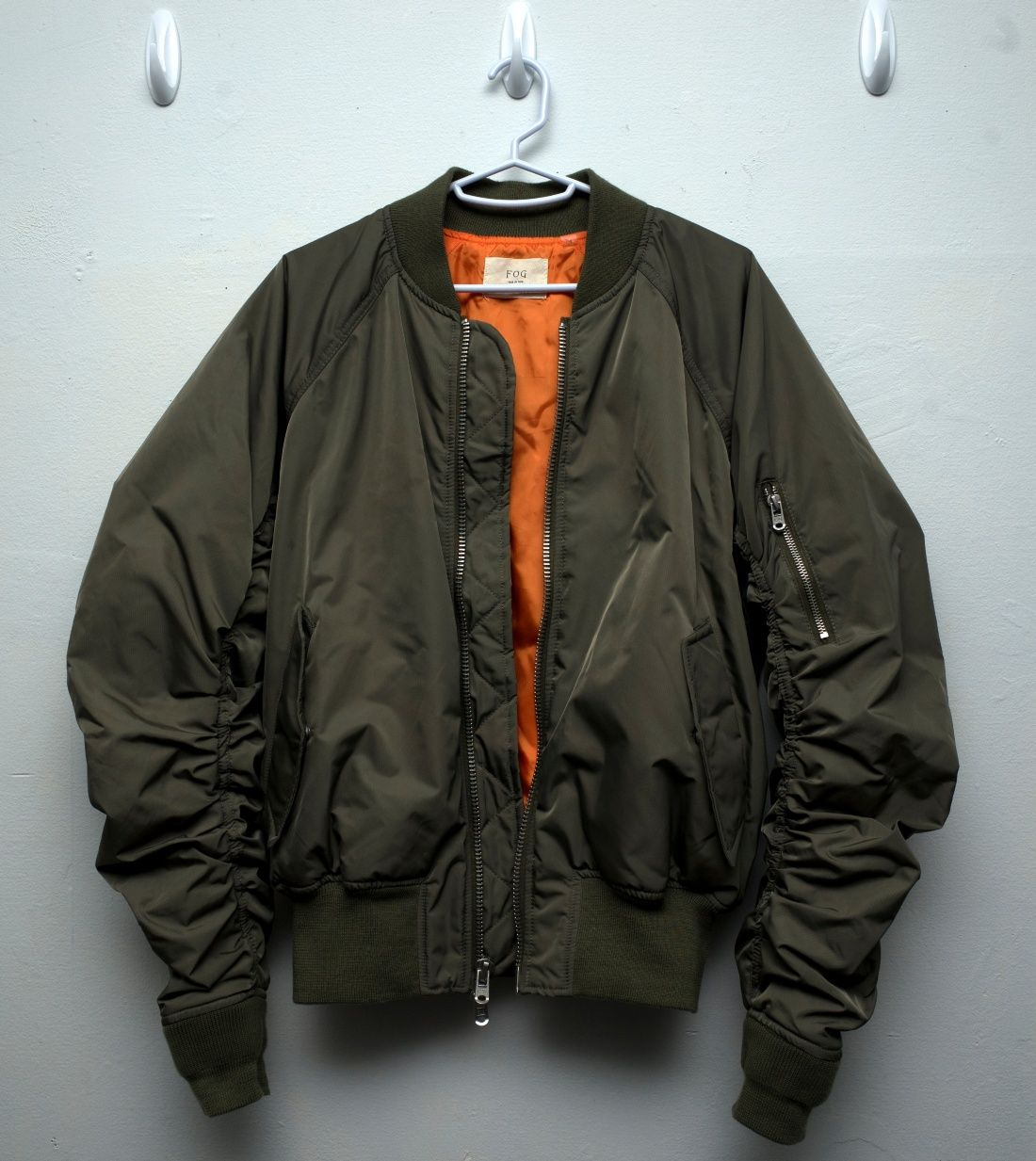 Fear Of God Fear Of God X Pacsun Raglan Bomber Jacket Bomber Jacket Jackets Mens Outfits [ 1233 x 1100 Pixel ]