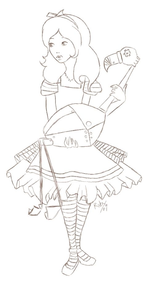 alice steampunk coloring page - Google Search | coloring book pic ...