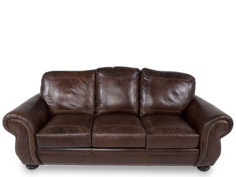 1500 Vplw 8555 30 Oak Usa Leather Sg Oak Paisley Sofa