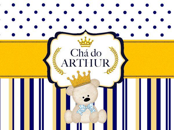 Ursinho Príncipe, Azul com Dourado - Kit de Artes PSD + Fontes! Este arquivo esta disponível para download gratuito pelos Assinantes do Club.