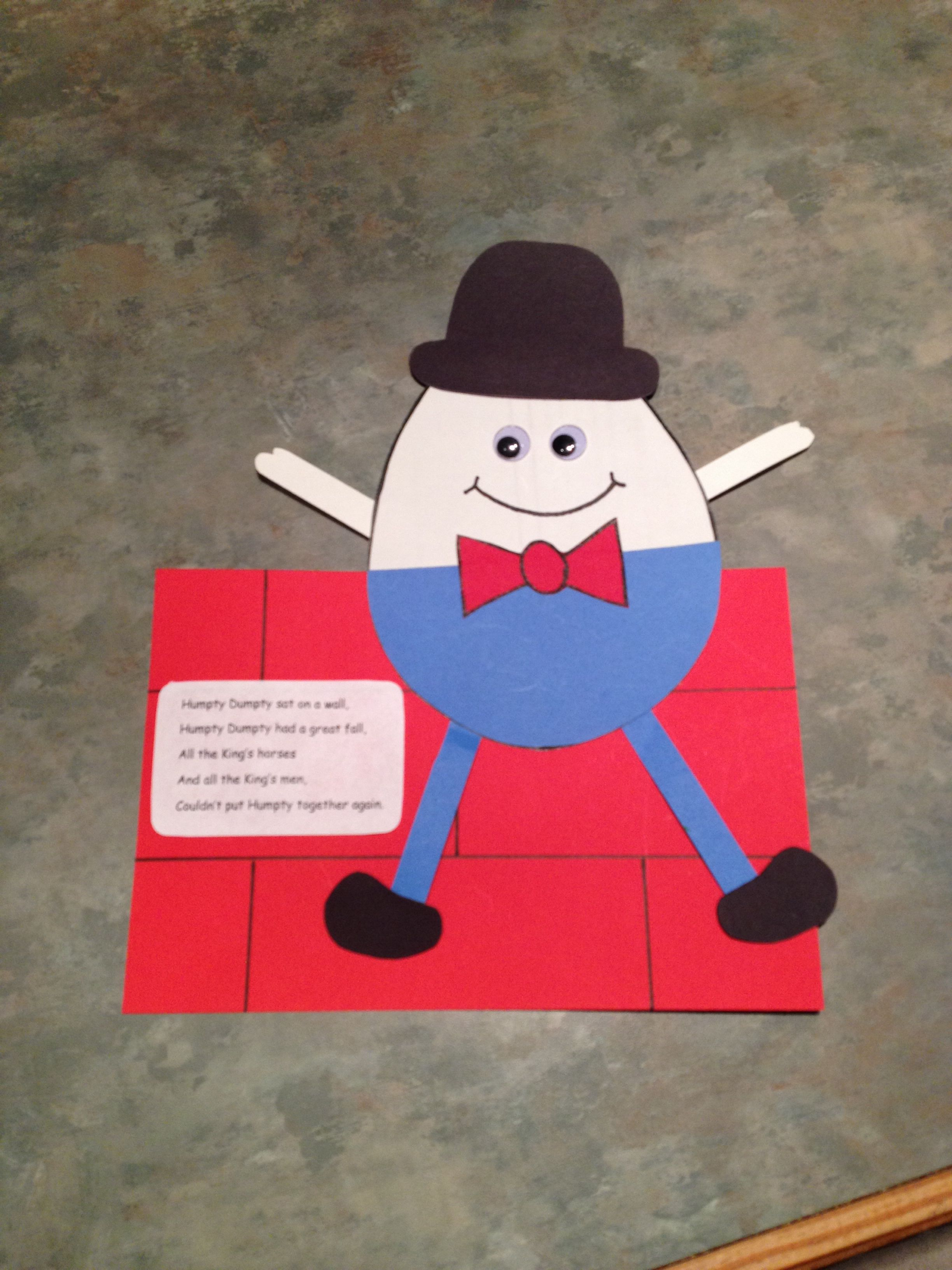 humpty dumpty craft for the classroom pinterest humpty