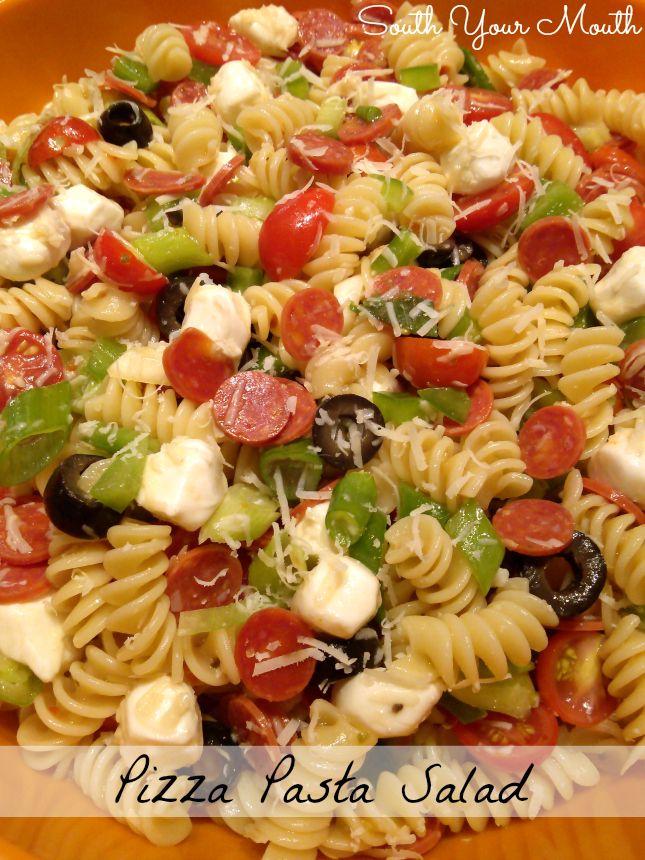 Pizza Pasta Salad Pasta Salad Recipes Pizza Pasta Salads