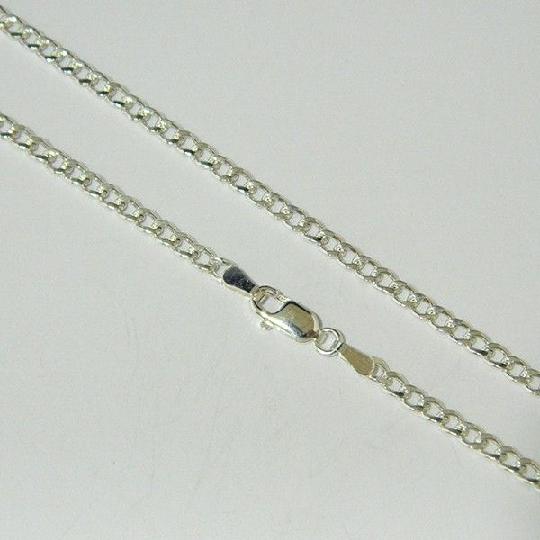 a177e64dc995 Cadena de plata de primera ley de 60 cm de largo