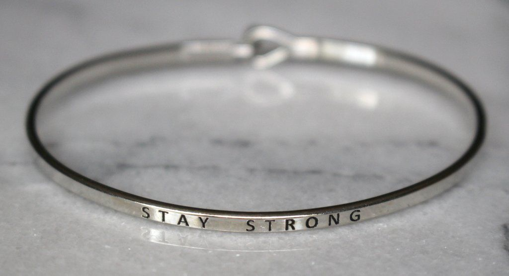 strong stay product black bracelet motivational silicone com
