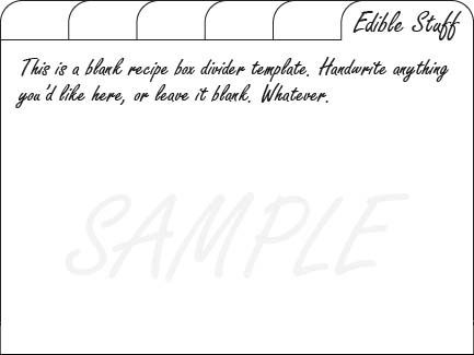 photo regarding Printable Index Cards 4x6 named recipe box dividers If I At any time Reduce Working with My Oven as