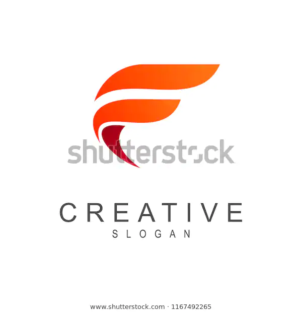 Simple Letter F Logo Stock Vector Royalty Free 1167492265