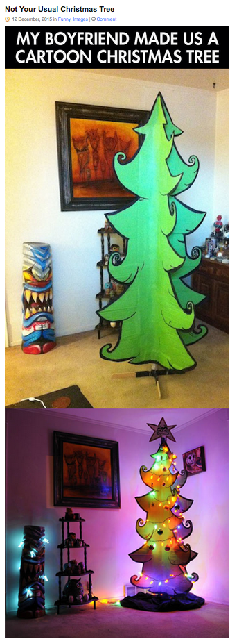 Http Themetapicture Com Not Your Usual Christmas Tree Cartoon Christmas Tree Cardboard Christmas Tree Whoville Christmas