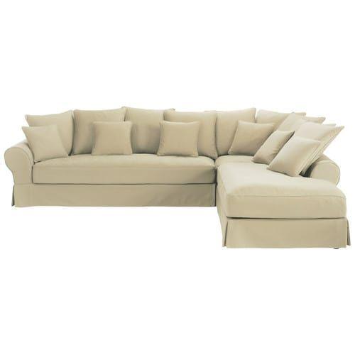 Canape D Angle Droit 6 Places En Coton Mastic Couch Furniture