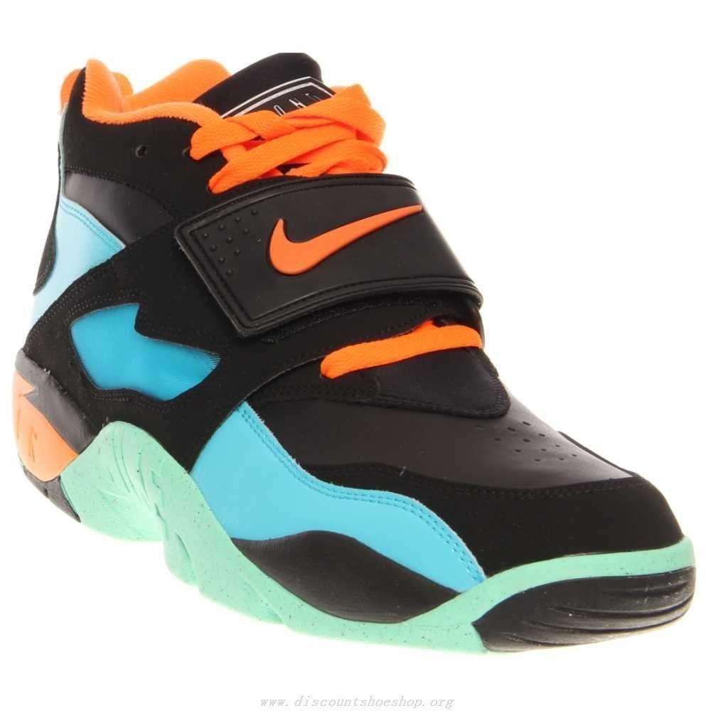 Nike Air Diamond Turf 309434 010 Mens Black Orange Athletic Running