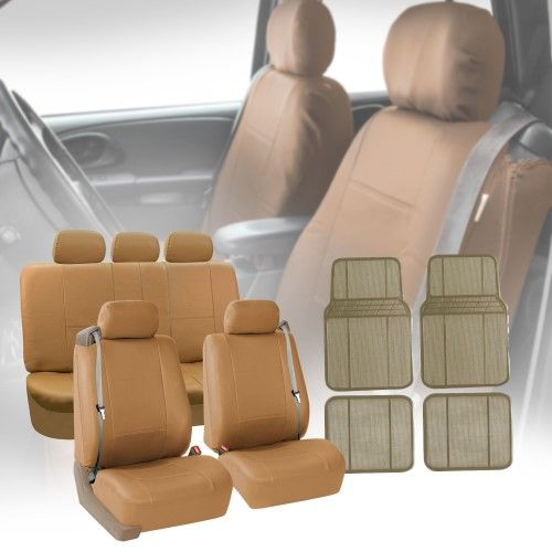 Tremendous Truck Van Seat Covers For Integrated Seatbelt Tan W Beige Caraccident5 Cool Chair Designs And Ideas Caraccident5Info