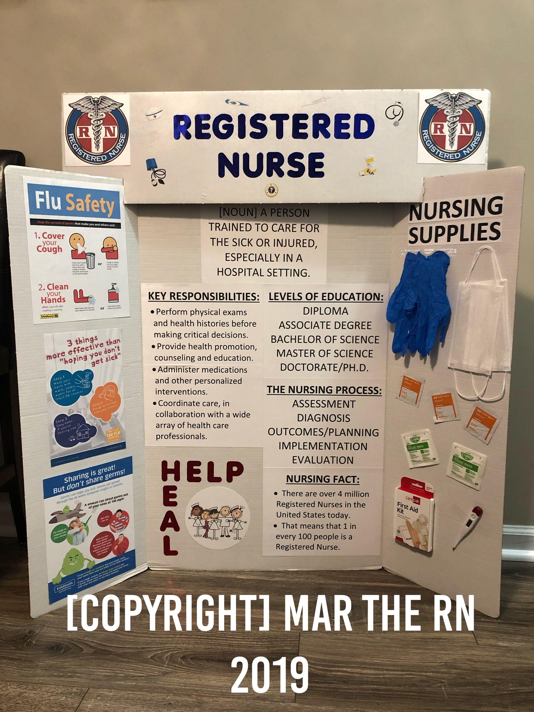 Career Day Tri Fold Registered Nurse Careerday