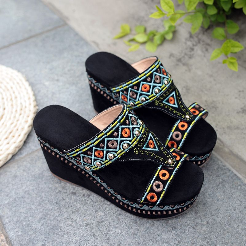 Donna Wedge Platform Summer Sandaloas Genuine  Pelle Open Toe  Genuine  2fb3f5