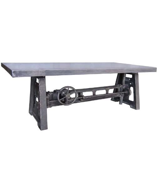 Foot Industrial Crank Table Furniture Pinterest Industrial - 7 foot office table
