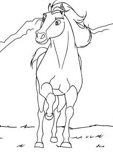 Dibujos para Colorear Spirit 12 | žirgų | Caballo para colorear
