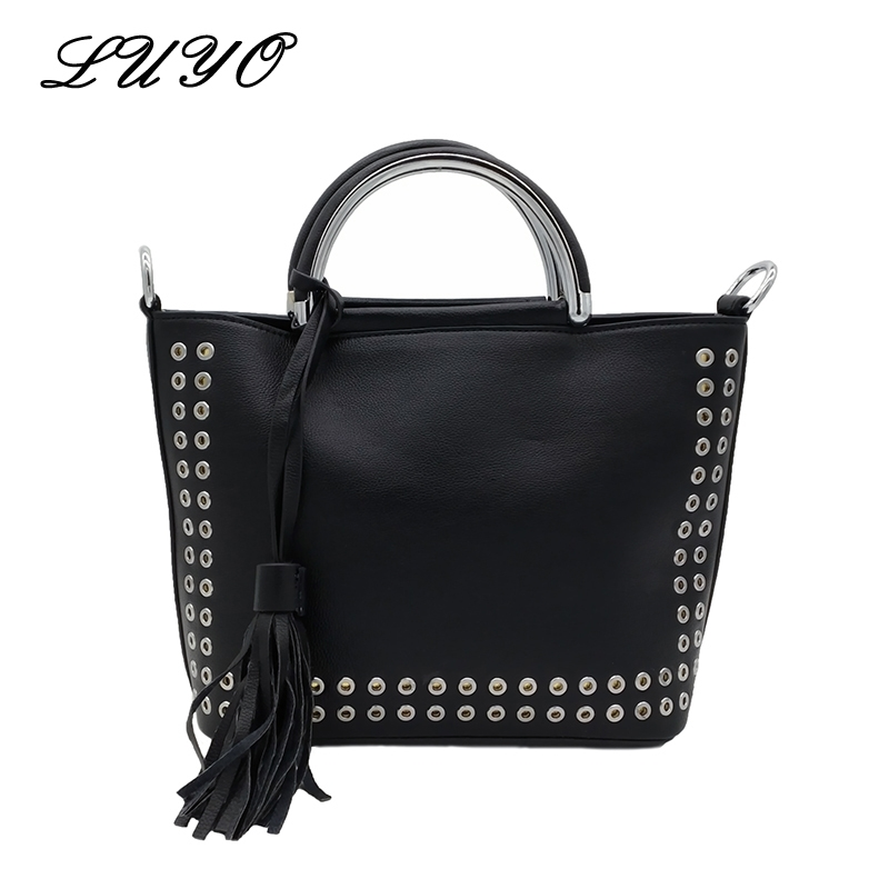 4a857ccae2de Shoulder · 23.40  Buy here - LUYO Brand New Fashion Rivet High Quality Pu  Leather Crossbody Bag