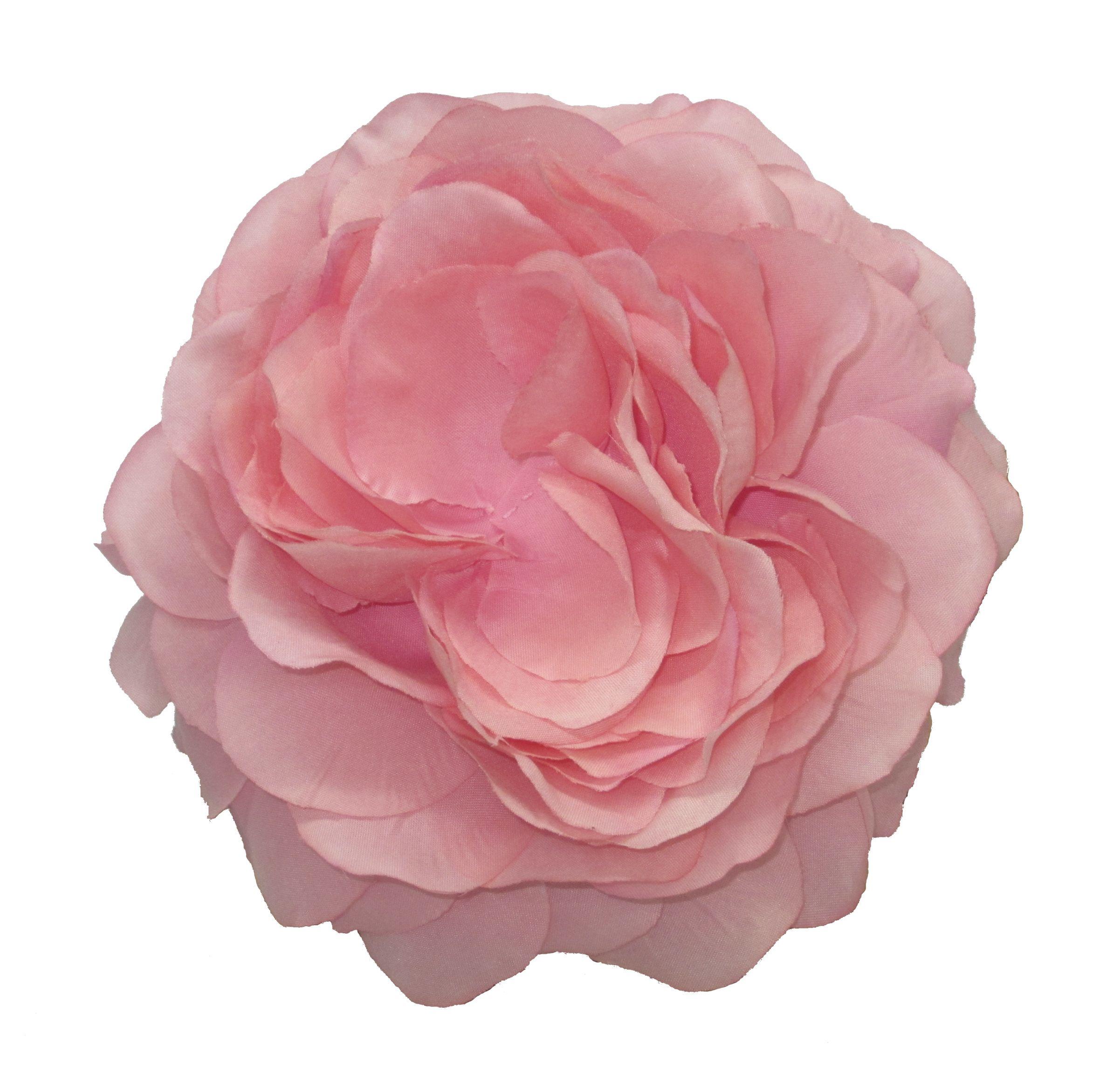Camelia. Tocado de flores, realizado con pétalos de tela color: rosa ...