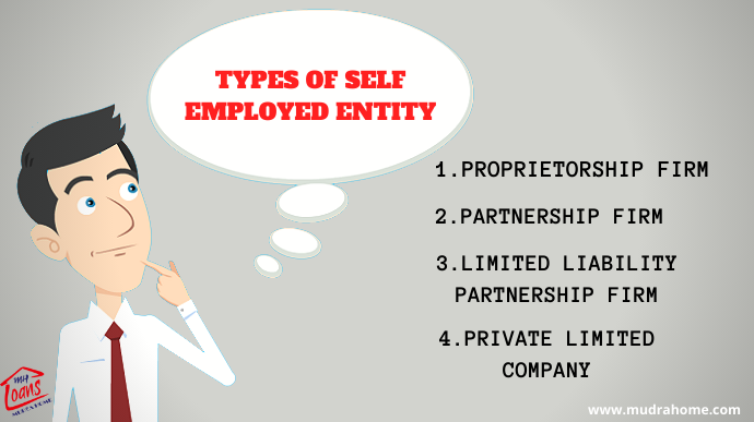 Types Of Self Employed Entity Mudra Home Financial Literacy Profit And Loss Statement Public Limited Company