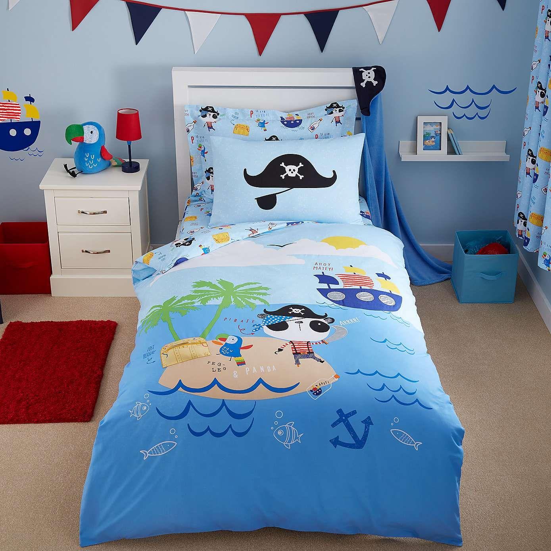 Nautical Bedding Dunelm: Pirate Panda Blue Bed Linen Collection