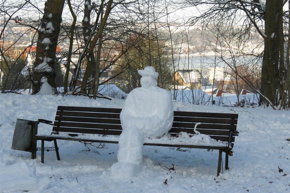et kreativt bud på en snemand