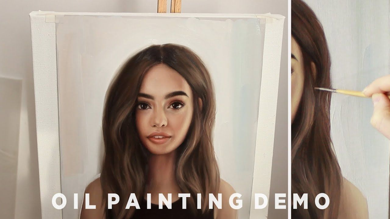 How To Paint Hair Oil Painting Demonstration Hair Painting How To Draw Hair Oil Painting Tutorial