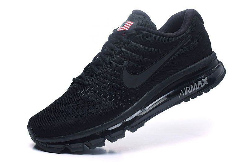 Factory Nike Air Max 2017 Men Mesh All Black Shop Online - $65.00