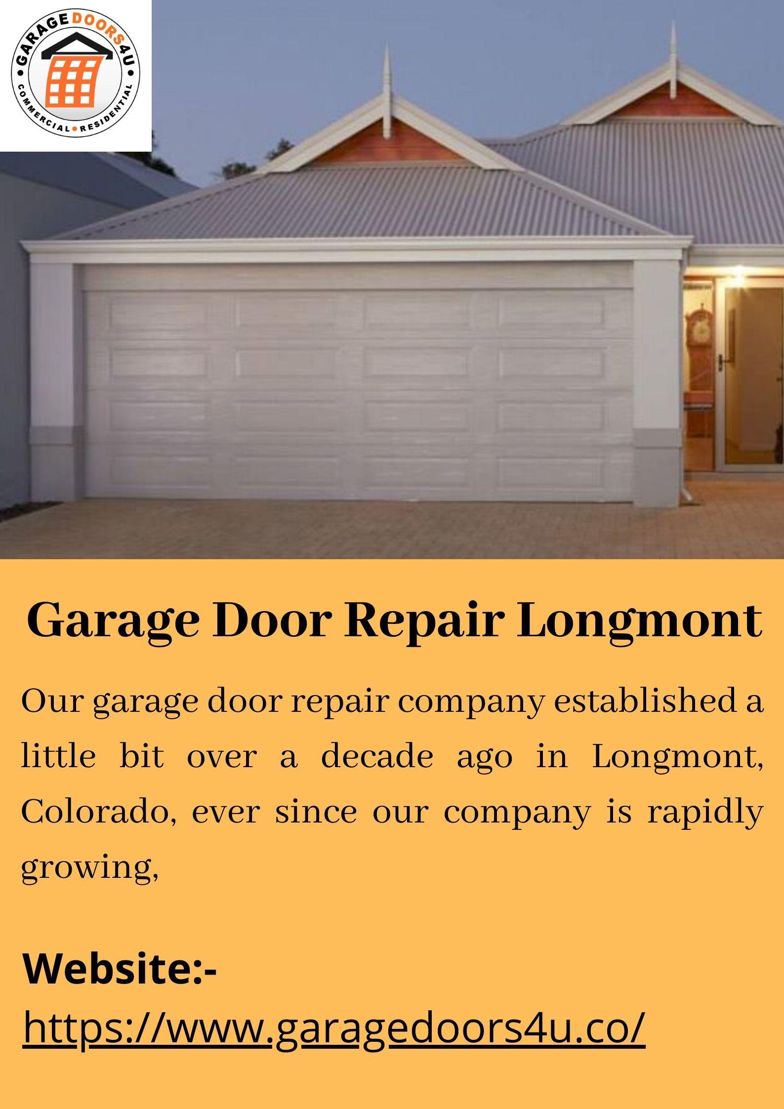 Garage Door Broken Spring Replacement Repair Services Longmont