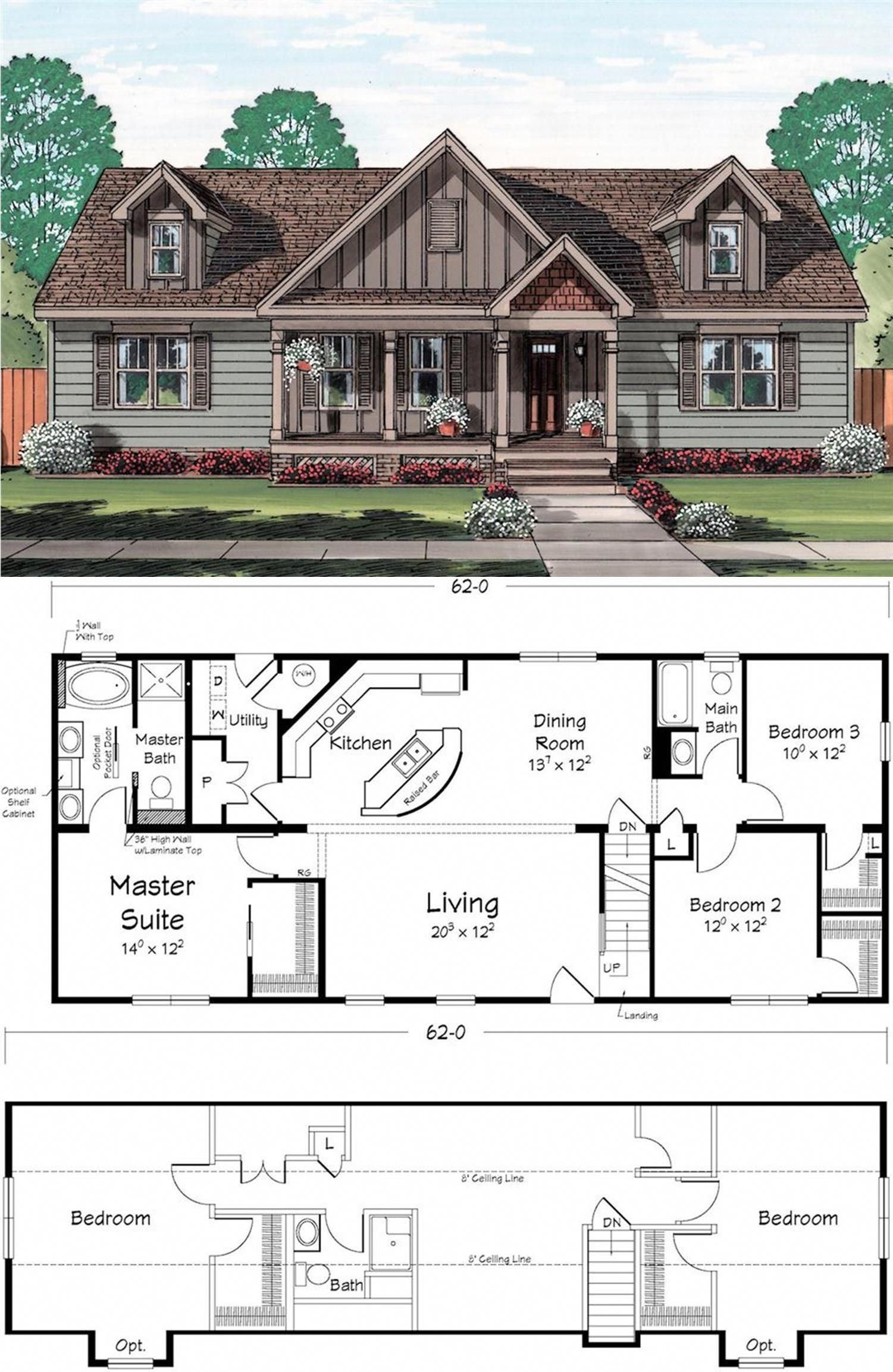 Home Owners Who Enjoy Entertaining Will Love The Additional Space In The Upper Level Of This Cape Code Plan Homeschoolingroom New House Plans House Blueprints Cabin House Plans