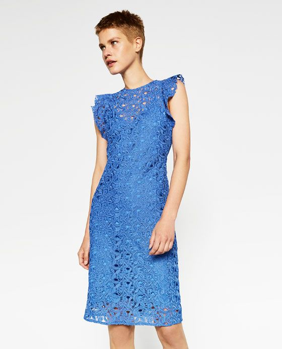 Zara vestidos cortos azules