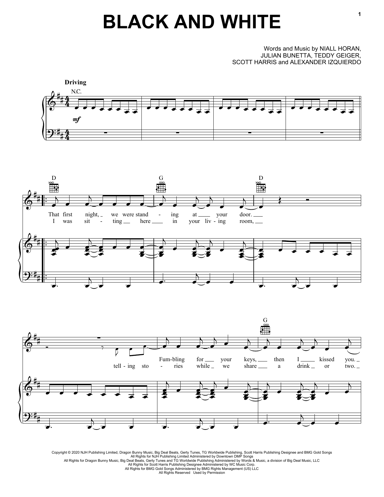 Niall Horan Black And White 445249 in 2020 Sheet music