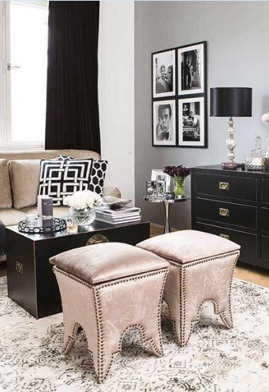 Mein kleiner Salon« Wie glamourös! Metallic-Details, softe Töne
