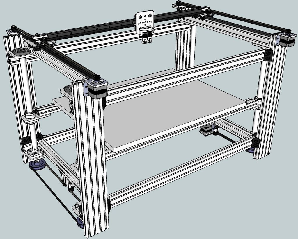 OpenBuilds HBot based 3D Printer by swe3tdave