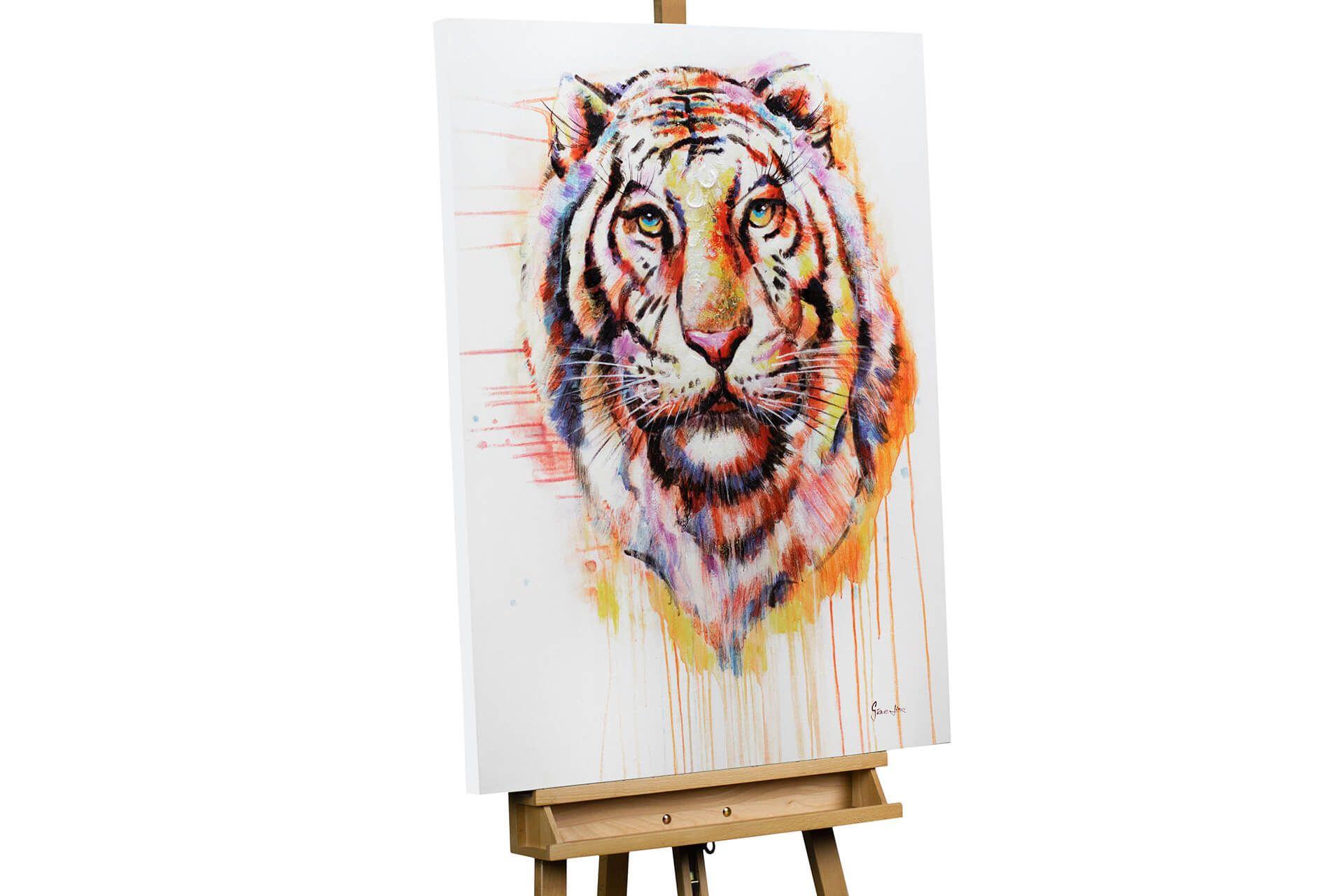 Handgemaltes Leinwand-Bild mit Tiger in Acryl   KunstLoft