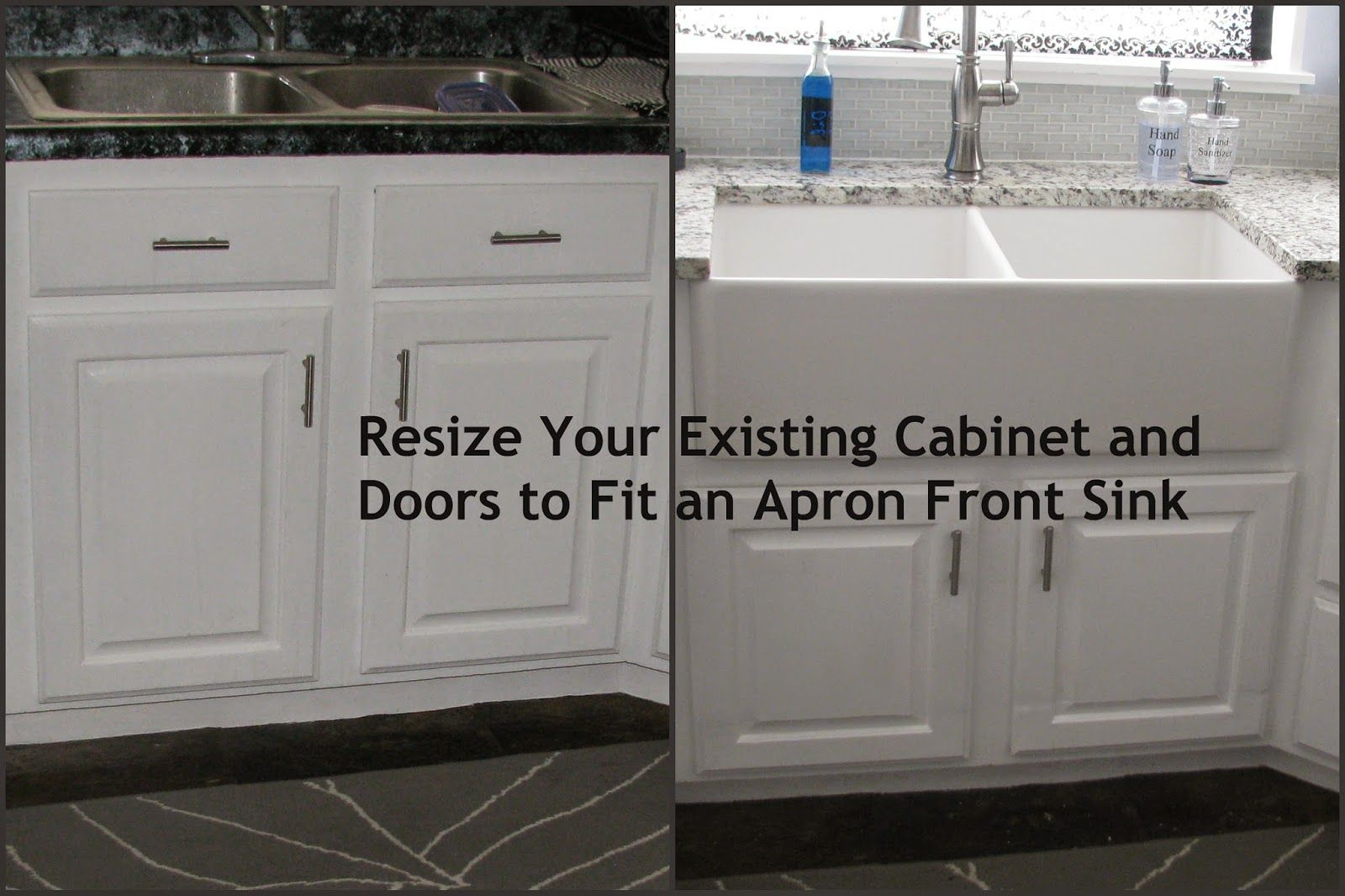 My So Called Diy Blog Resize Your Existing Cabinet And Doors To Fit An Apron Front Sink Farmhouse Sink Kitchen Farmhouse Sink Installation Apron Front Sink