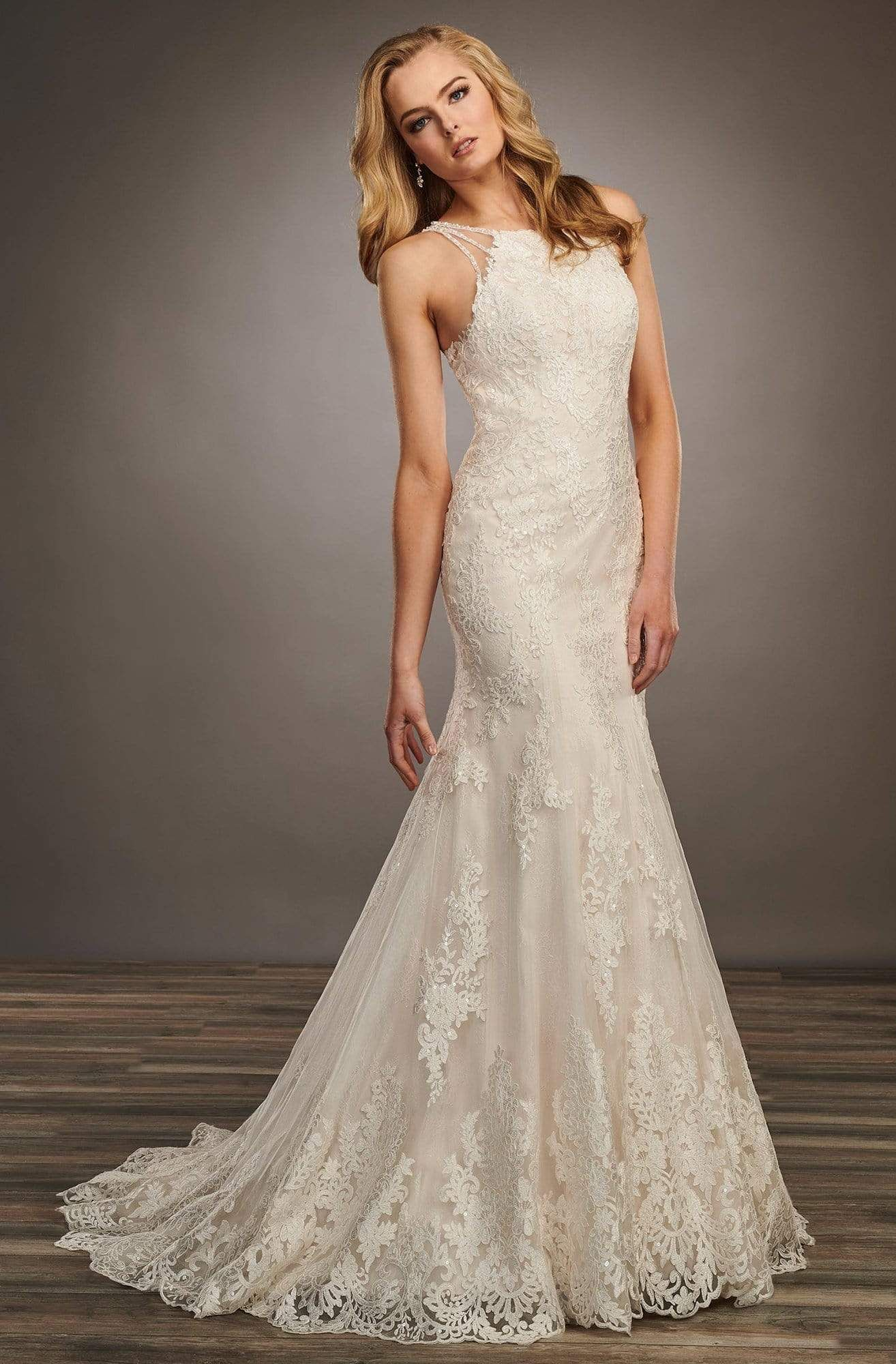Mary S Bridal Mb4063 Tulle Lace Halter Neck Mermaid Wedding Dress Wedding Dress Necklines Wedding Dress Styles Chart Mermaid Wedding Dress [ 2000 x 1314 Pixel ]