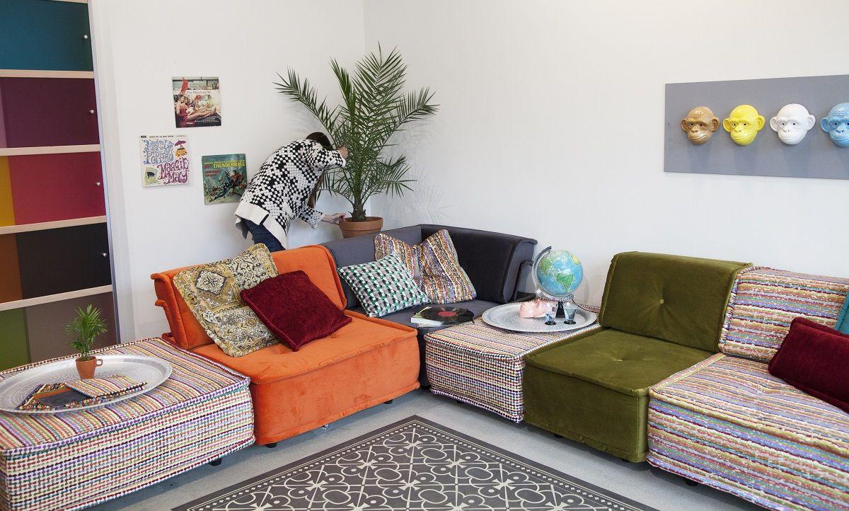 Design Bank Losse Elementen.Hoekbank Uit Losse Elementen Ideeen Voor Thuisdecoratie Home