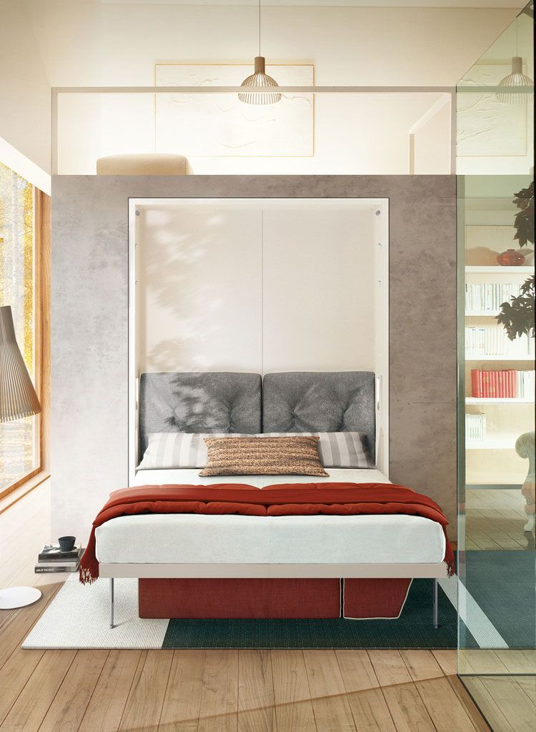 The Penelope Is A Space Saving Murphy Bed That Pulls Down To Reveal