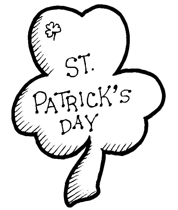 st patricks day coloring pages st patricks day shamrock coloring book page printout saint - Shamrock Coloring Page