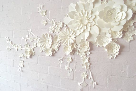 Handmade Paper Blossom Wall Display | Display, Walls and Flowers