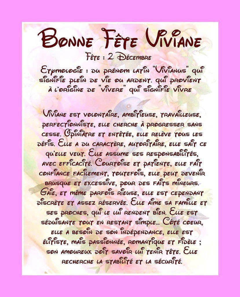 Carte Bonne Fete Viviane 2 Decembre Carte Bonne Fete Bonne