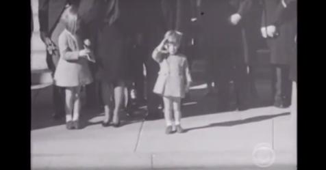 https://www.facebook.com/Little John Kennedy saluting his father.  Heartwarming thoughsad.