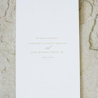 Classic Wedding Ceremony Programs - Martha Stewart Weddings Inspiration